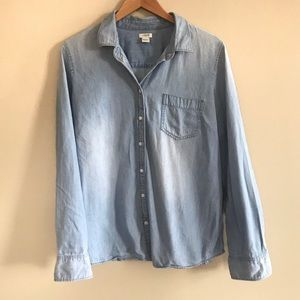J. Crew Chambray Denim Jean button down